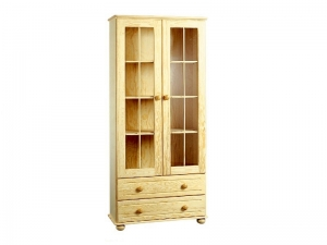 BJ bookcase with glass doors