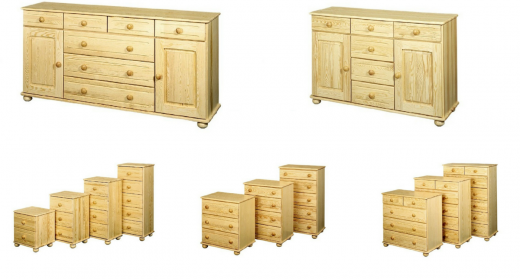 Pine wood furniture without knots