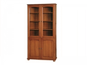 AGD 110 bookcase with glass doors